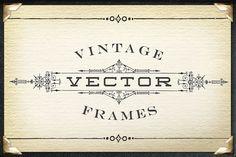 Vintage Titling Vector Frames Set 1