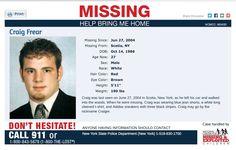 Craig Freer, missing January 27, 2004
