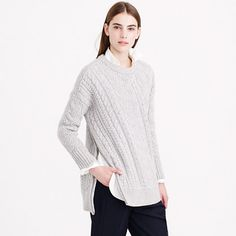 J.Crew - Wool side-zip cable sweater. If your short enough can we wore as a dress... #justsaying... MsMooPow