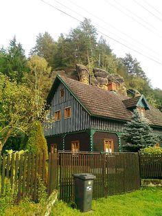 Chalupa pod skálou - Jetřichovice - severní Čechy