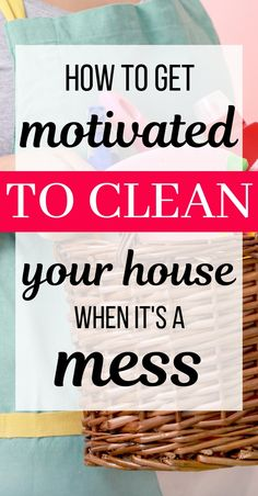 13 tips to get motivated to clean your house when it's a mess. How to get motivated to clean your house when you don't know where to start. The best cleaning hacks, tips, and tricks for busy moms with Daily Cleaning, Deep Cleaning Tips, House Cleaning Tips, Cleaning Solutions, Spring Cleaning, Cleaning Hacks, Diy Hacks, House Cleaning Motivation, Cleaning Products