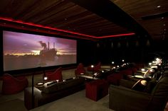 Private cinema/ auditorium that can be transformed into a night club at The Alpina Gstaad
