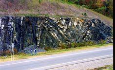 Ouachita Mtn Folds near Hot Springs, Arkansas