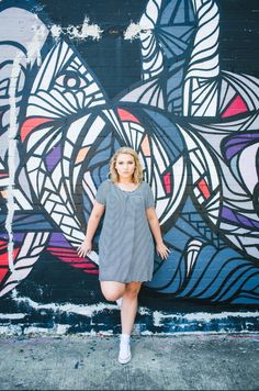 downtown Houston tx senior pictures 2016 graffiti wall image by wgilmerphotography