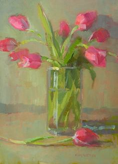 Tulips Together by margaret mcwethy Oil ~ 10 x 8