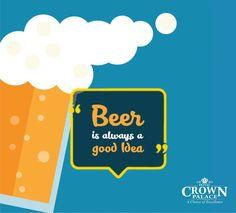 Beer is always a good idea - http://ift.tt/1HQJd81