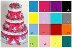 green pink gray diaper cake - Google Search