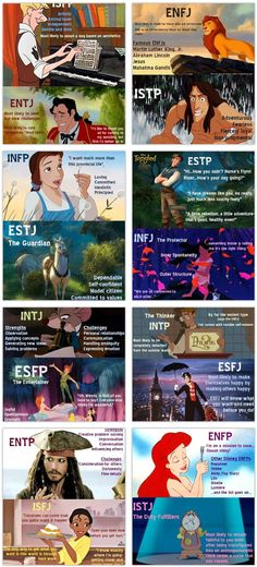 Disney Myers Briggs - Totally okay with being on the same team as Mary Poppins.
