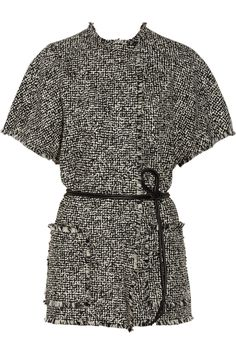 Lanvin | Wrap-effect wool-blend tweed jacket | NET-A-PORTER.COM