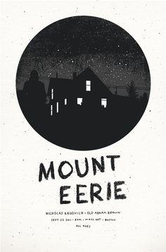 Mount Eerie Gig Poster by John Boilard, via Behance