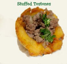 Stuffed Tostones  This typical Puerto Rico recipe is easy to do and a great way to bring a splash of the Caribbean to your party. These are a great appetizer