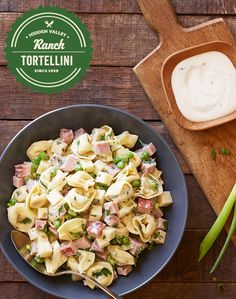 This quick and easy Ranch Tortellini recipe is perfect for your leftover Easter ham! Peas and green onions add freshness to this tasty pasta salad. Pack it in lunches or make it for an easy weeknight dinner.