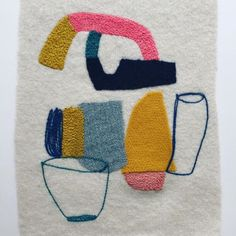 Sweet felt embroidery by @maxinesuttontextiles #obusloves #madewithhands