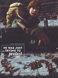 He was just trying to protect me!