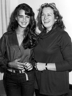 Brooke Shields and mom