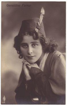 Geraldine Farrar postcard  American actress and opera singer