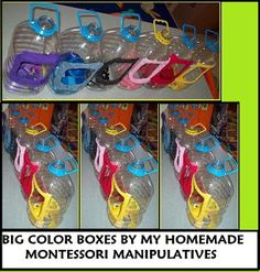 My HomeMade Montessori: TODDLER COLOR BOXES TO CARRY TO CARPET