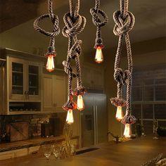 Loft Luz Pendiente de la vendimia Industrial Edison Lámpara Bombilla Americana Para El Dormitorio Comedor Decoración Del Hogar Lámparas de Techo de Led