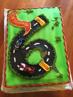 Hot Wheels Race Car 6th Birthday Cake                                                                                                                                                                                 More