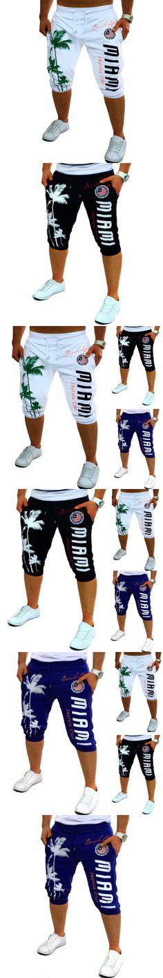 2017 Summer Fashion Shorts Mens Tights Compression Palm Print Design Bermuda Short Mens Casual Homme Shorts Male Plus Size XXL 3