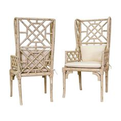 Bamboo Wing Back Chair - 657530PCR