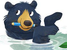 Dribbble - Drawin' Bear by Melanie Matthews