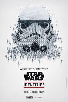 Portraits de Star Wars en trompe-l'oeil pour l'exposition « Star Wars Identities »