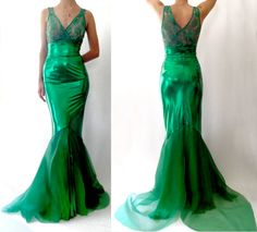 Mermaid Costume Maxi High Waist Wiggle by MaisyBrownReproRetro, $270.00