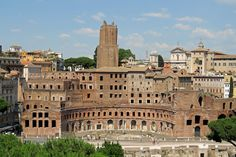 """The Roman remains and a description of the giant geology-defying building project undertaken by """"the best"""" Roman emperor known as the Trajan Markets."""