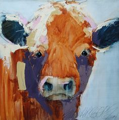 Sarah Rogers uses watercolor, usually combined with graphite, and several layers of heavy color. Represented by Horizon Fine Art Gallery in Jackson Hole, Wyoming. Watercolor Paintings Of Animals, Cow Painting, Animal Paintings, Watercolor Art, Jackson Wyoming, Jackson Hole, Southwestern Paintings, Pastel, Insect Art