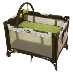Graco Pack 'n Play Playard- Barlow (Brown/Green)   I have this one if you want.
