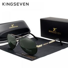 54fbcc229c3 KINGSEVEN Design Men s Glasses Pilot HD Polarized Sunglasses For Men Women Driving  Sun Glasses With