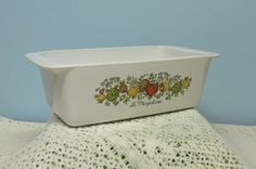 Corning Ware Spice of Life Loaf Pan  La by BusyOnBlackwood on Etsy