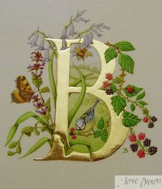 Josie Brown Calligraphy Heraldry Illumination ~ Gilding Gallery