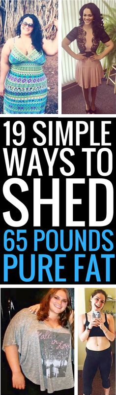 19 really simple weight loss tips that really work.