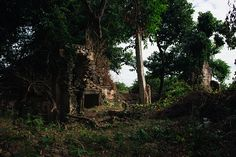 Temple ruins in the Siem Reap countryside Cambodia