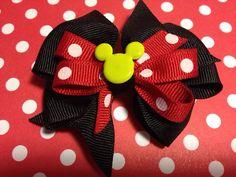 Small Disney Hair Bow by claudiasspecialties on Etsy, $5.00