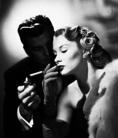 Film Noir Todays hair & make up inspiration.