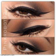 Bold winged eyeliner makeup inspiration