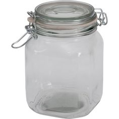 Walmart: Mainstays 38 oz Clear Glass Jar with Clamp Lid Glass Jars, Clear Glass, Mason Jars, Red Kitchen, Kitchen Stuff, Kitchen Ideas, Rubber Rings, Vintage Kitchen Decor, Clamp
