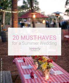 20 summer wedding essentials