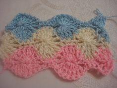 Una muestra tejida, para cobijitas de bebe chalecos o para lo que tu quieras.  puedes poner la cantidad de colores que te gusten..