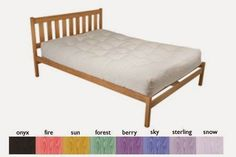 charleston natural american oak platform bed