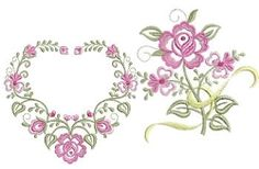 Dainty Roses Set, 10 Designs - 2 Sizes! | What's New | Machine Embroidery Designs | SWAKembroidery.com