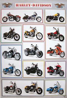 Pôster Motocicleta Harley Davidson: 15 Classic, Linda, Big Bikes