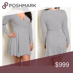 Coming soon! (Plus) B/W striped dress Coming soon! Estimated date of posting: September 18.   Please like this listing to be notified via price drop when it becomes available for purchase.   This will be available in XL--3x  🚫Current listed price is not what this will be listed at. 🚫 Dresses Mini