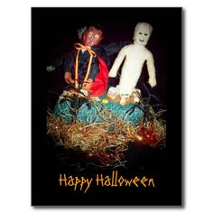 Halloween party blog has great ideas: (Halloween Postcard postcard by zazzle)