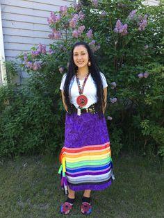 beautiful cousin wearing a skirt I made on her graduation day.My beautiful cousin wearing a skirt I made on her graduation day. Native American Clothing, Native American Fashion, Native Fashion, The Dress, Dress Skirt, Pretty Outfits, Beautiful Outfits, Traditional Skirts, Jingle Dress