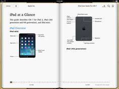 iPad, iPhone, iPod touch user guides for IOS 7... in French too :D l #free