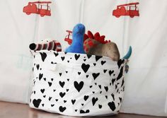 Toy storage basket/ laundry hamper #basket #softtoy #tinytoys #blue #kids #india #indian #footlong #Baby #babyboy #babygirl #boy #girl #gift #toy #white #black #hearts #laundry bag #toy basket.  If you are interested in buying this Toy storage basket/ laundry hamper, shop at https://www.facebook.com/connectZoey  Or write us at connectzoey@gmail.com